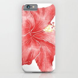 Red flower of hibiscus.  iPhone Case