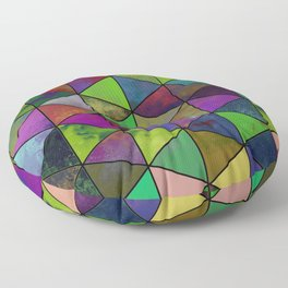 Textured Triangulation - Abstract, geometric triangles Floor Pillow