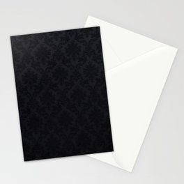 Black damask - Elegant and luxury design Stationery Cards