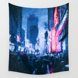 On the streets of New York City Wall Tapestry