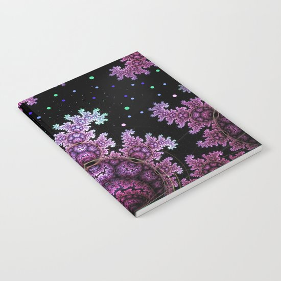 Magical fantasy patterns in purple, pink and green Notebook