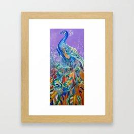 Peacock in Purple Framed Art Print