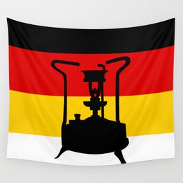 Pressure Stove with German Flag Wall Tapestry