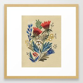 folkflower I Framed Art Print