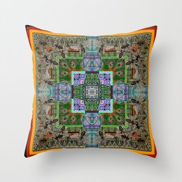 Mielo-Egypto Mandala Throw Pillow