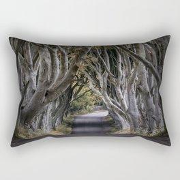 Dark Hedges Alley Rectangular Pillow
