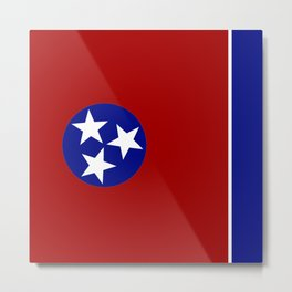 Tennessee square flag Metal Print