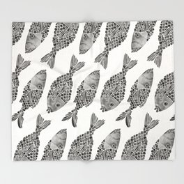 Indonesian Fish Duo – Black Palette Throw Blanket