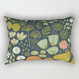 Botanical Sketchbook M+M Navy by Friztin Rectangular Pillow