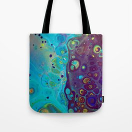 Where Blues Collide - Abstract Acrylic Art by Fluid Nature Tote Bag