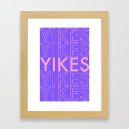 YIKES YP Framed Art Print