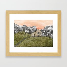 Autumn came to the mountains. Framed Art Print
