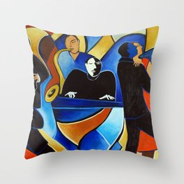Pianist Throw Pillow