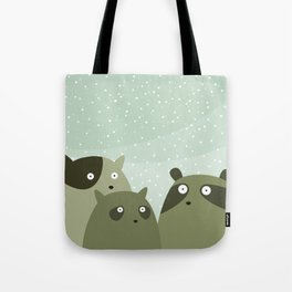 a beaver, a squirrel and a no particular rodent Tote Bag