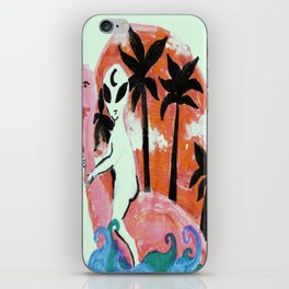 flamingo and alien iPhone Skin
