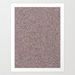 Melange - White and Dark Sienna Brown Art Print