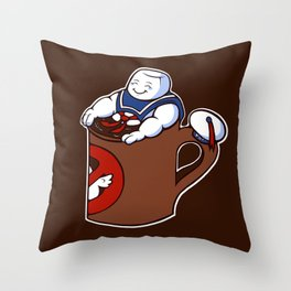 Cup of Stay Puft Throw Pillow