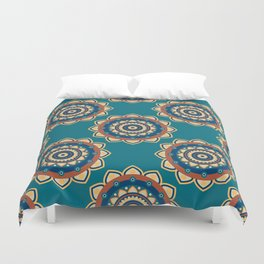 Who's the Mandala Seamless Pattern Duvet Cover