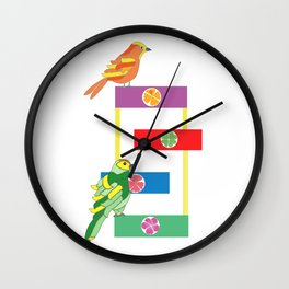 Birds in the playground Wall Clock