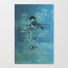 Music and Feelings Canvas Print