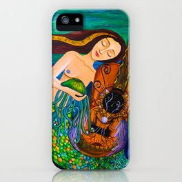 Listen to the waves of your vibrations iPhone Case