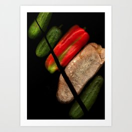 Chopped Salad Art Print
