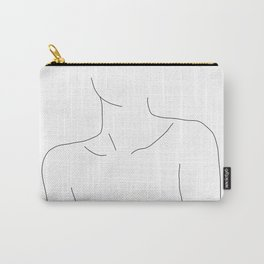 Neckline collar bones drawing - Erin Carry-All Pouch