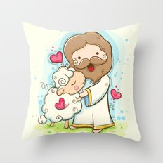 Lord is my shepherd Throw Pillow