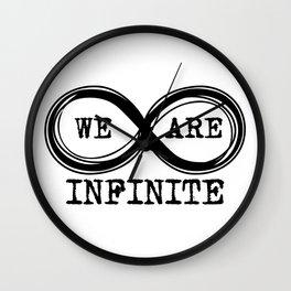 We are infinite. (Version 3, in black) Wall Clock