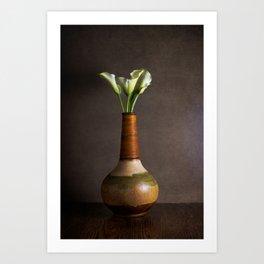 Calla Lillies and Vase Art Print