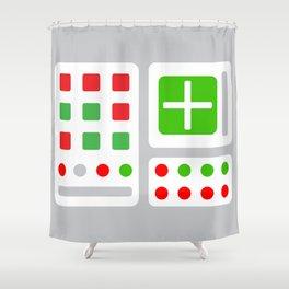 Alpha One Rocket Base Shower Curtain