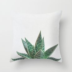 Aloe Tiki Throw Pillow