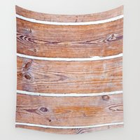 wooden Wall Tapestries featuring Wooden Boards by Patterns and Textures