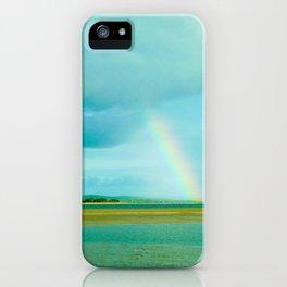 Rainbow over Paradise Island iPhone Case