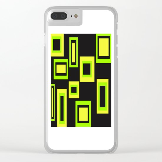Abstract squares Clear iPhone Case