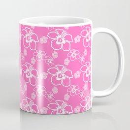 Pink Hawaiian Hibiscus Flowrs Coffee Mug