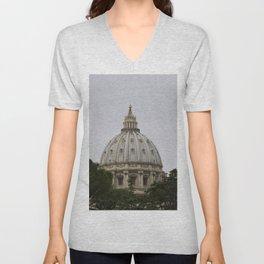 The Vatican Building Unisex V-Neck