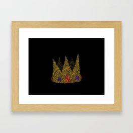 A jewelled Crown Framed Art Print