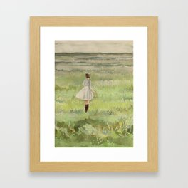 sometimes green is the only color you need. Framed Art Print