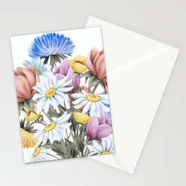 Summer Floral Watercolour Bouquet Stationery Cards
