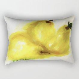 We Three Pears In Watercolor Surrealism Art Rectangular Pillow
