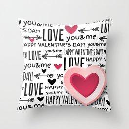 Saint Valentin Love LV Throw Pillow