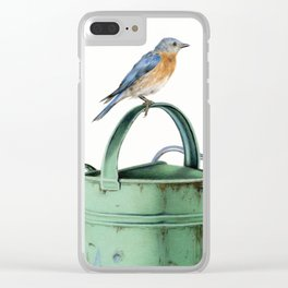 Bluebirds At The Potting Shed Clear iPhone Case