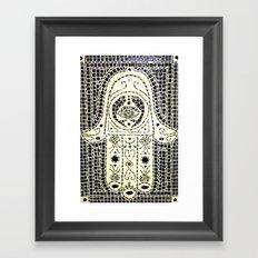 Hamsa Mosaic Framed Art Print