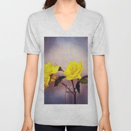 Still Life - Yellow Roses Unisex V-Neck