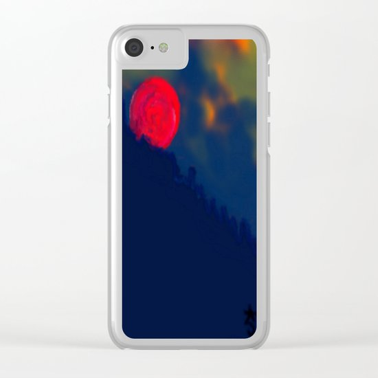 Red Moon Clear iPhone Case