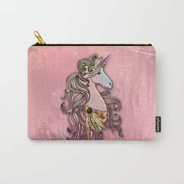 Beautiful unicorn in pink colors Carry-All Pouch