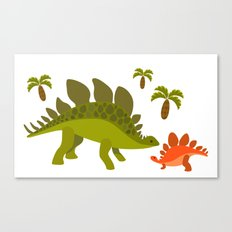 Dinos - Mom and baby Canvas Print