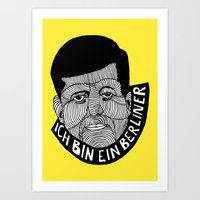 jfk Art Prints featuring JFK by The Ceza