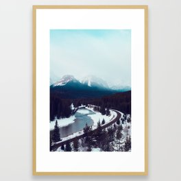Canadian Rocky Mountains, Banff, Lake Louise, Winter Landscape Framed Art Print